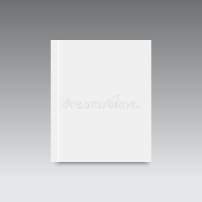 现实空白的闭合的杂志大模型模板 向量 向量例证