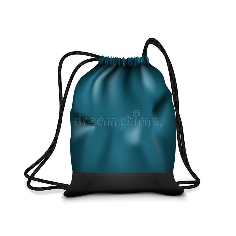 现实简单的黑体育背包袋子隔绝了 向量例证