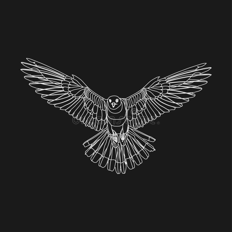 现实老鹰高昂老鹰,捉住的牺牲者,freedo的标志 向量例证