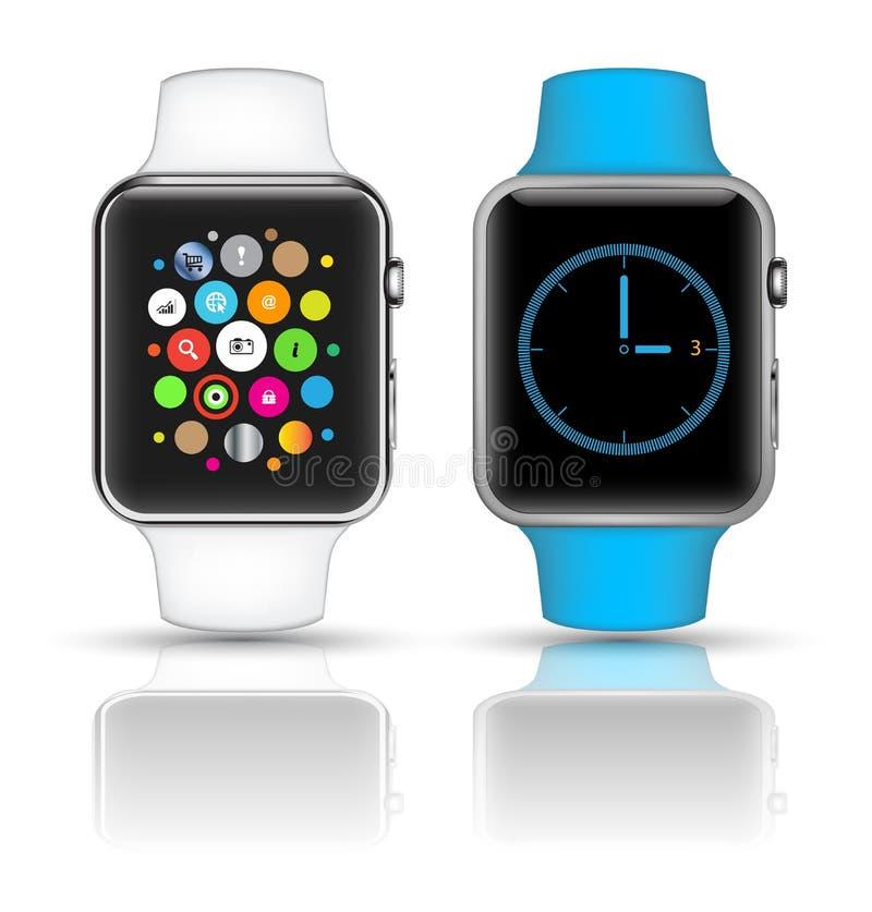 现实聪明的手表3D的大模型 皇族释放例证