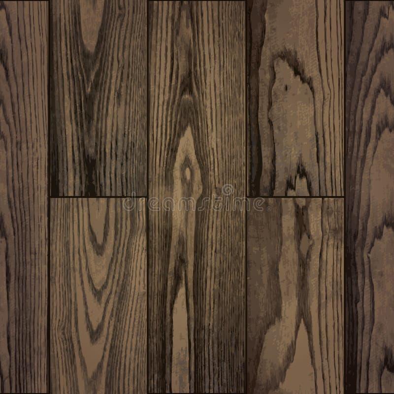 现实自然板条木头纹理的无缝的样式 皇族释放例证