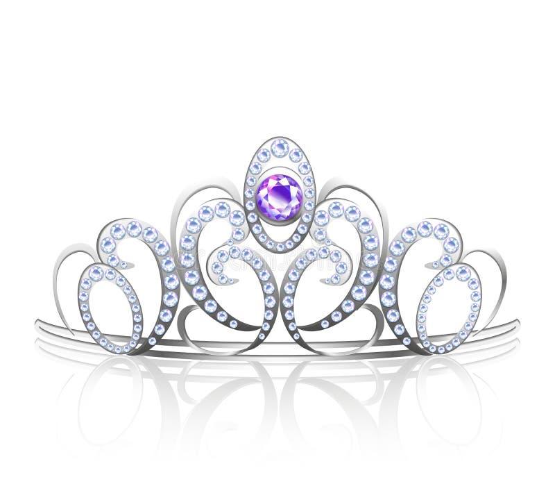 现实色的王冠 向量例证