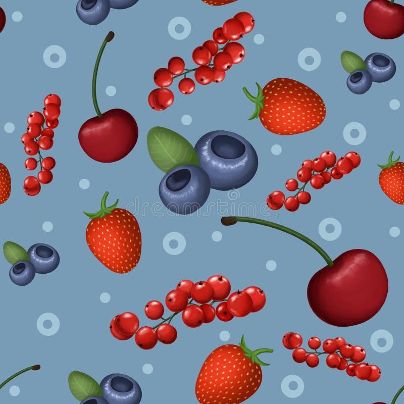 现实莓果背景 免版税库存图片