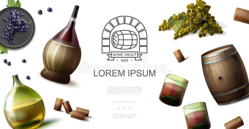 现实葡萄酒酿造产业概念 皇族释放例证