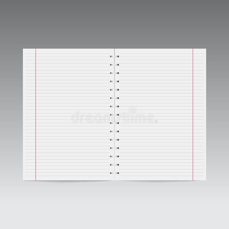 现实螺纹笔记本模板 向量 向量例证