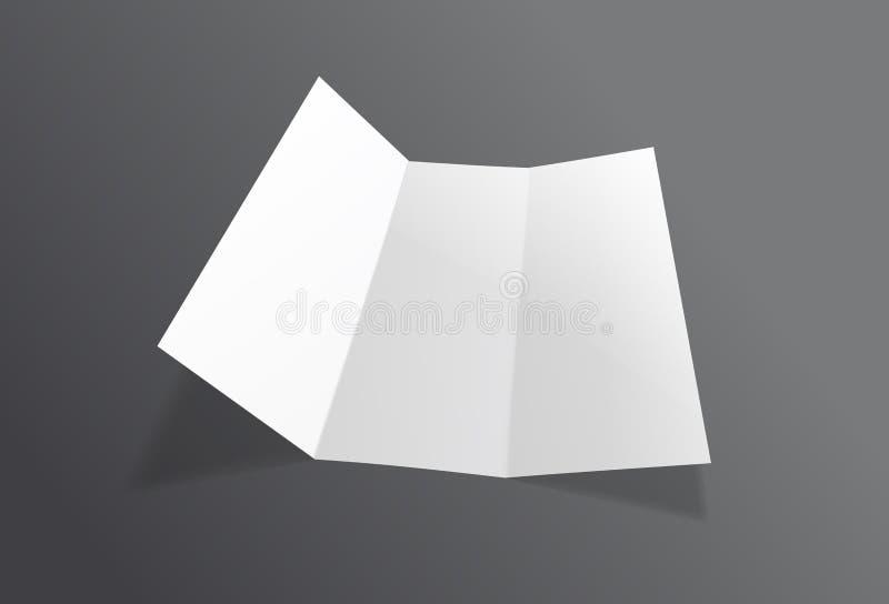 现实被折叠的小册子大模型 白皮书板料飞行物 传染媒介传单 向量例证