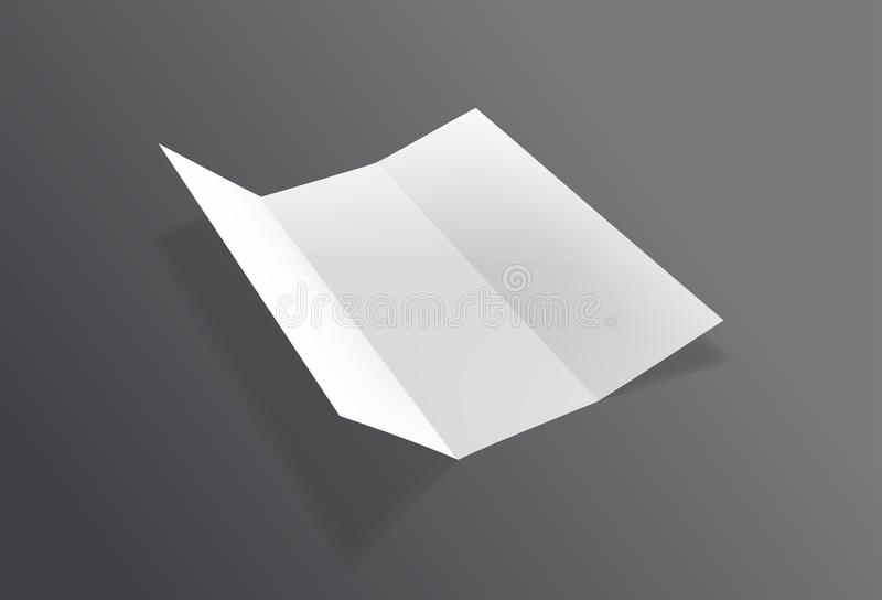 现实被折叠的小册子大模型 白皮书板料飞行物 传染媒介传单 库存例证