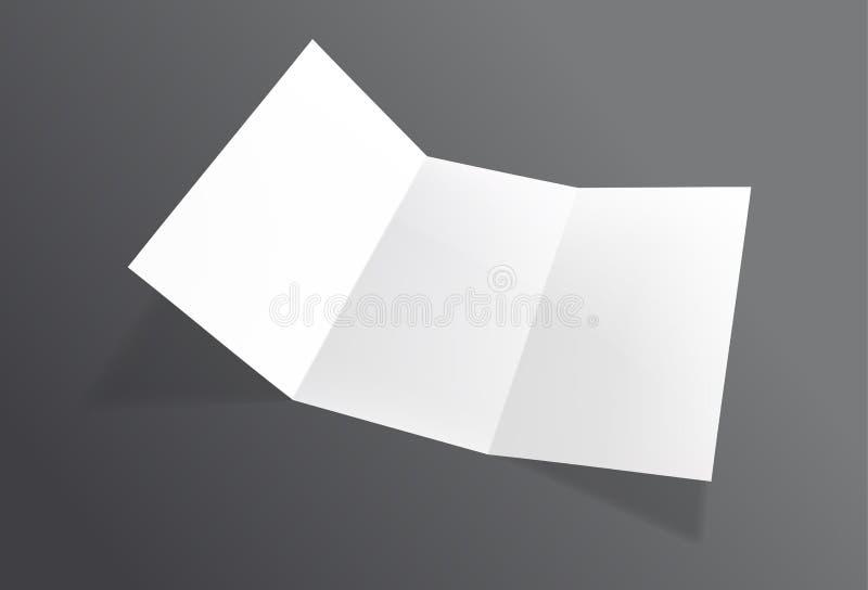 现实被折叠的小册子大模型 白皮书板料飞行物 库存例证