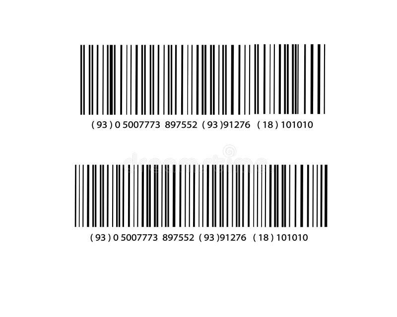 现实计算机条码象 向量例证