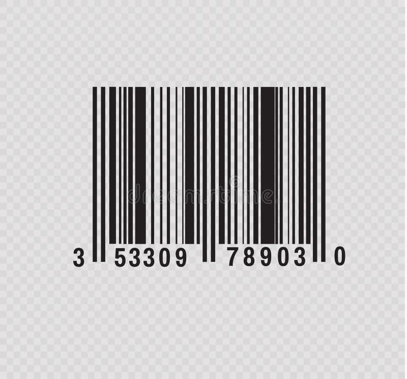现实计算机条码象 现代简单的平的条形码 销售,互联网的概念 时兴的传染媒介标志 库存例证