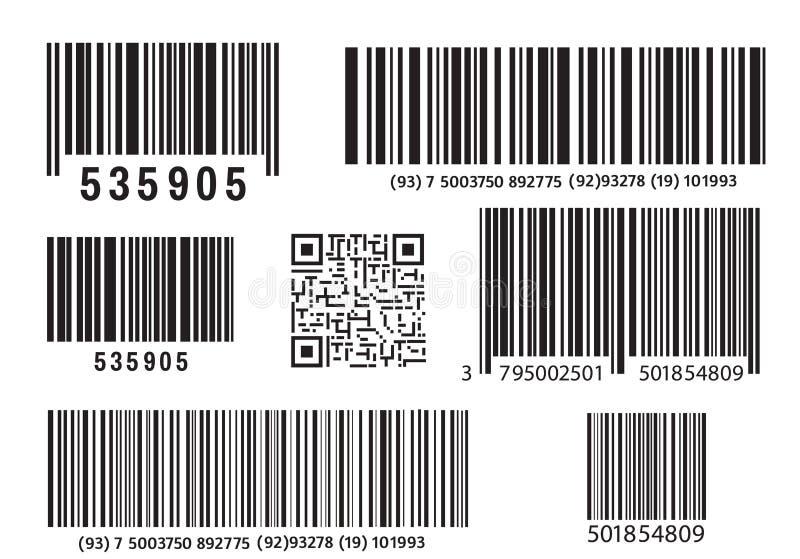 现实计算机条码象 现代简单的平的条形码 销售,互联网的概念 时兴的传染媒介标志 向量例证