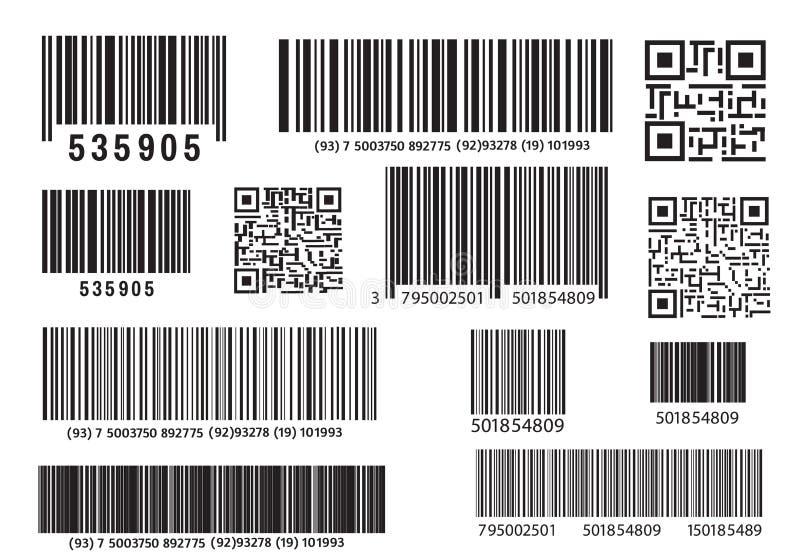 现实计算机条码象 现代简单的平的条形码 销售,互联网的概念 时兴的传染媒介标志 皇族释放例证