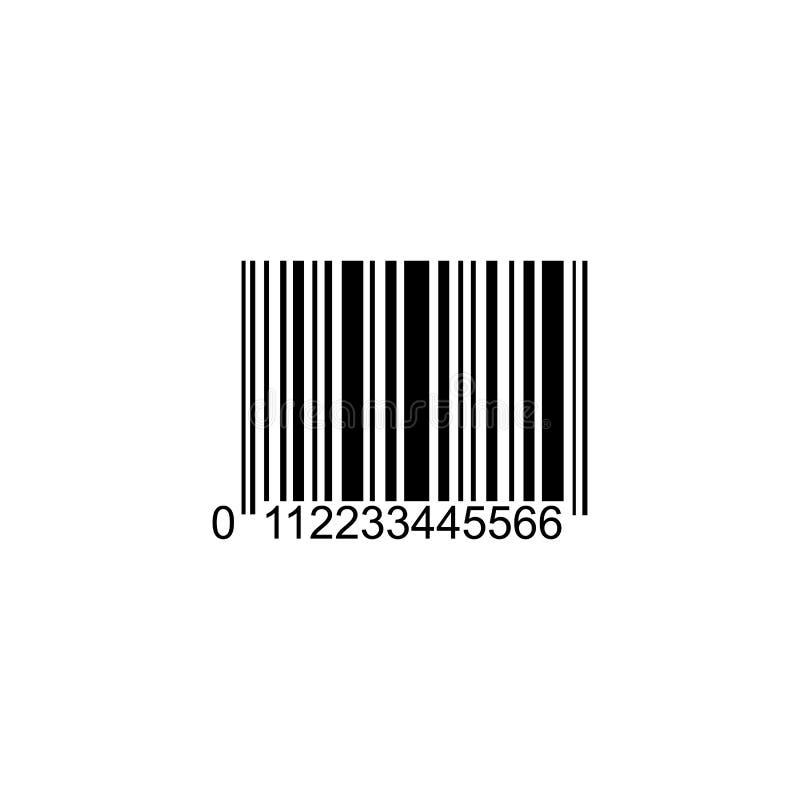 现实计算机条码象 现代简单的平的条形码 皇族释放例证