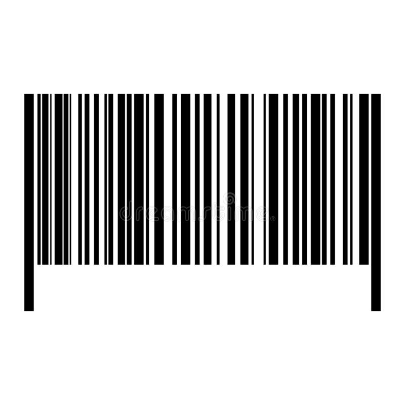 现实计算机条码象 库存例证