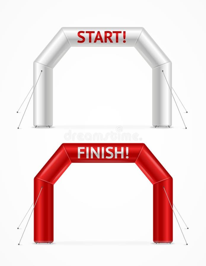 现实详细的3d正方形可膨胀的拱道集合 ?? 库存例证