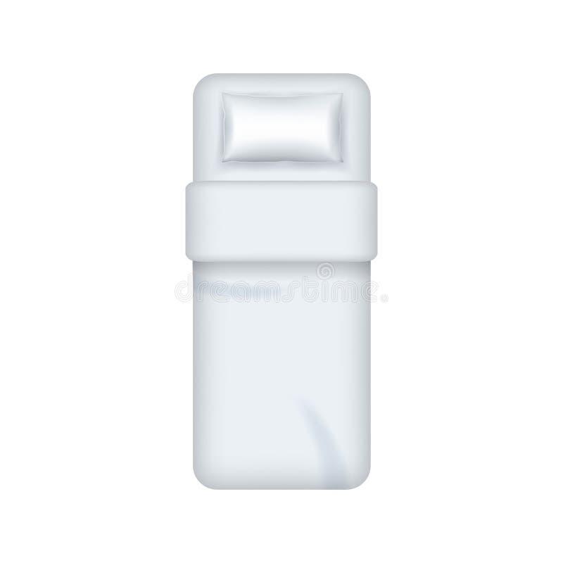 现实详细的3d白色空白唯一卧具模板大模型 ?? 库存例证