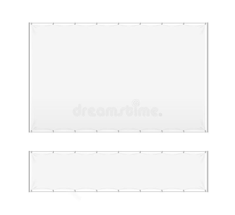 现实详细的3d白色空白的广告的立场模板大模型集合 向量 向量例证