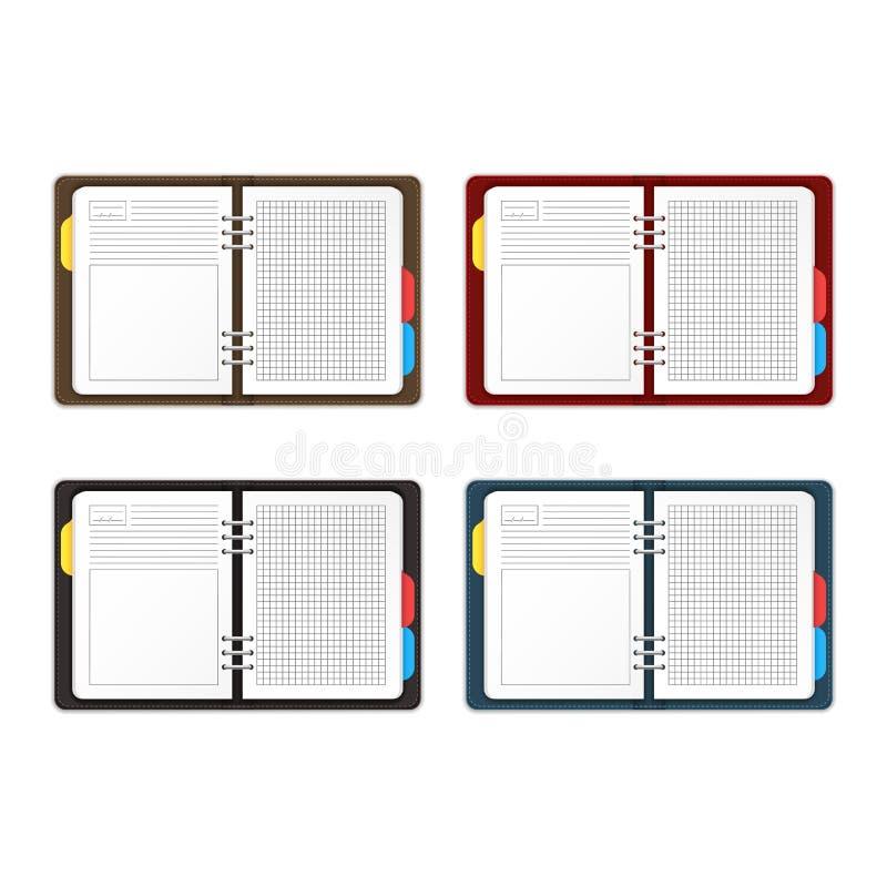 现实详细的3d空的模板组织者计划者集合 ?? 库存例证