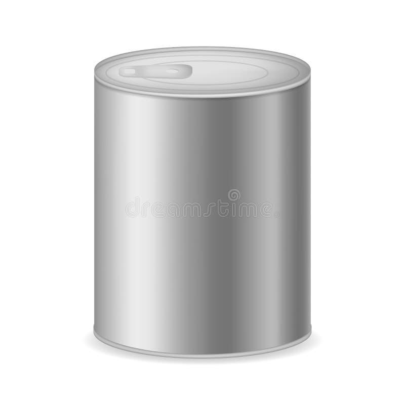 现实详述的3d装金属包装于罐中 ?? 皇族释放例证