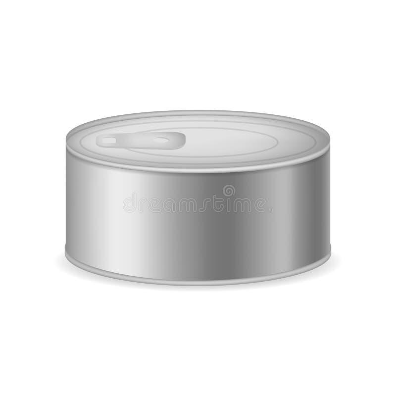 现实详述的3d装金属包装的集合于罐中 ?? 皇族释放例证