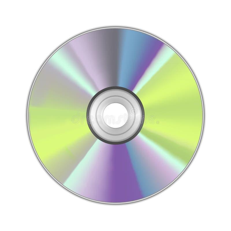 现实详细的圆的CD的盘 向量 皇族释放例证