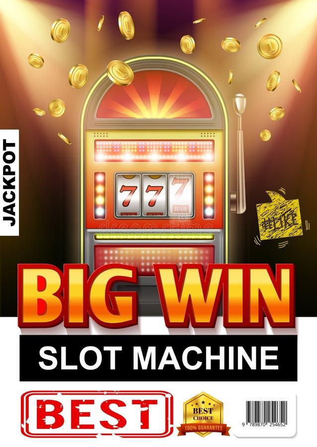现实赌博娱乐场光赌博的海报 皇族释放例证