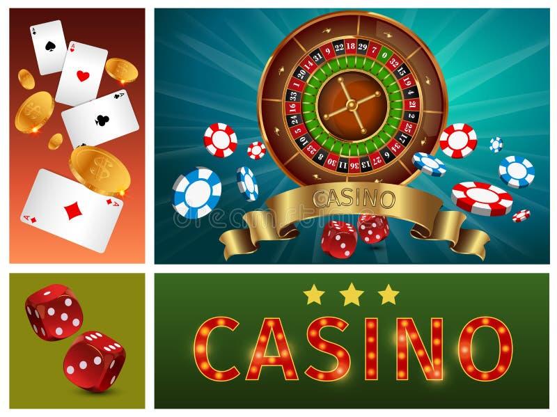 现实赌博娱乐场明亮的构成 皇族释放例证