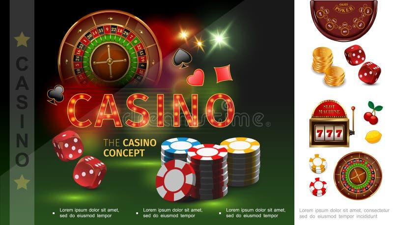 现实赌博娱乐场概念 皇族释放例证