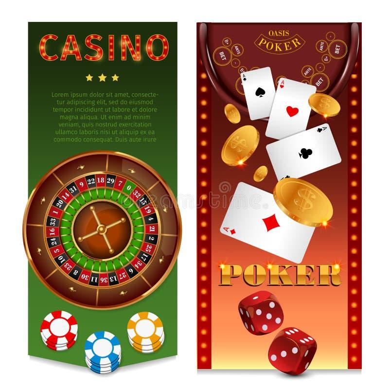 现实赌博娱乐场比赛垂直横幅 库存例证