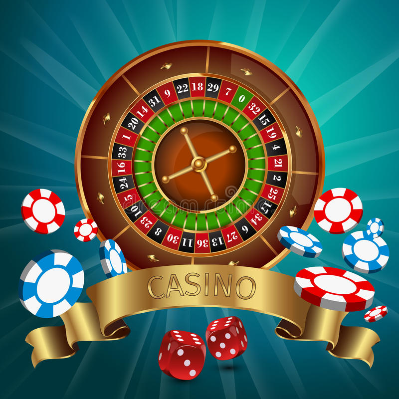 现实赌博娱乐场海报 向量例证