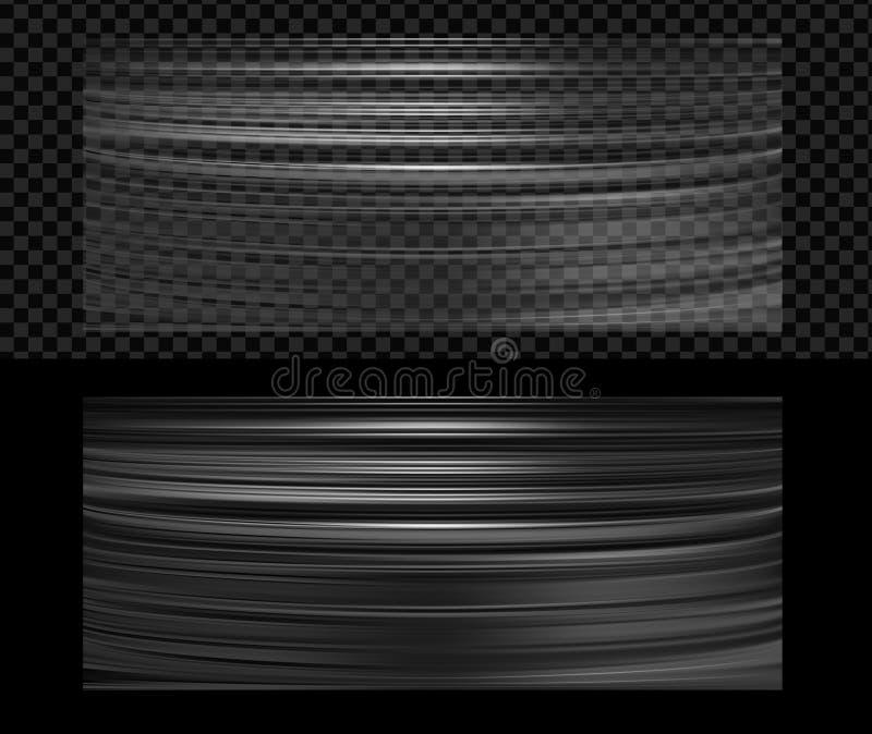 现实透明塑料包装材料纹理 向量例证