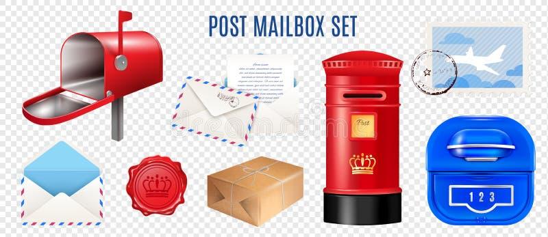现实邮费元素透明集合 库存例证