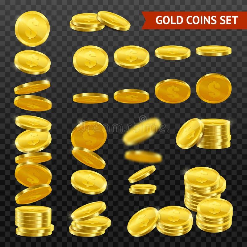 现实金币DarkTransparent集合 皇族释放例证