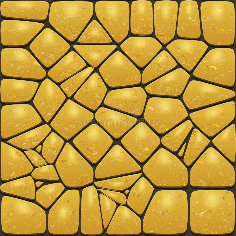 现实金石头的背景 鹅卵石墙壁或路面 向量例证