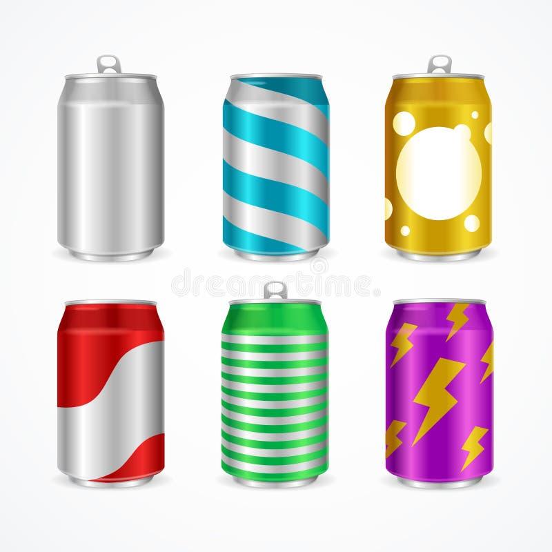 现实铝罐颜色空集 向量 向量例证