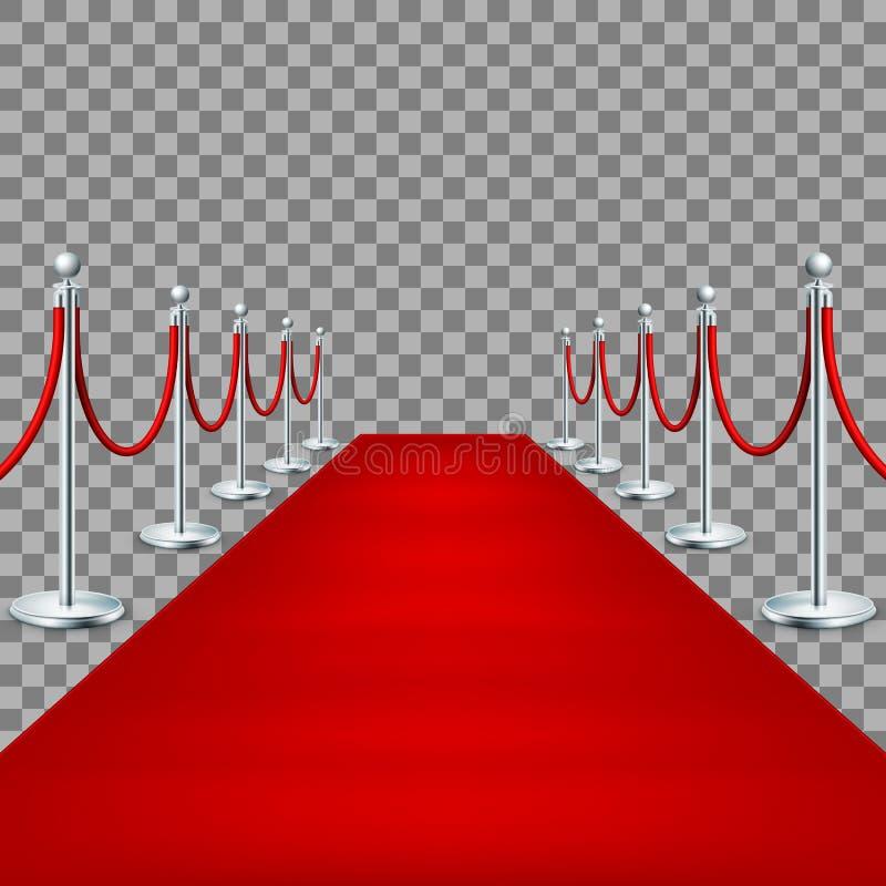 现实隆重在绳索障碍之间 10 eps 向量例证