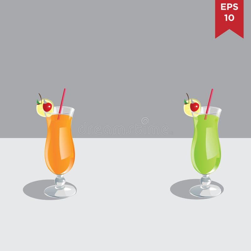 现实玻璃用汁液 免版税图库摄影