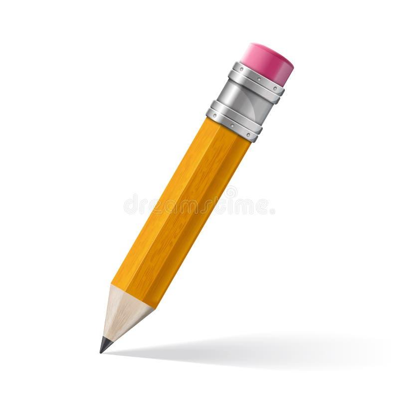现实黄色铅笔象 库存例证