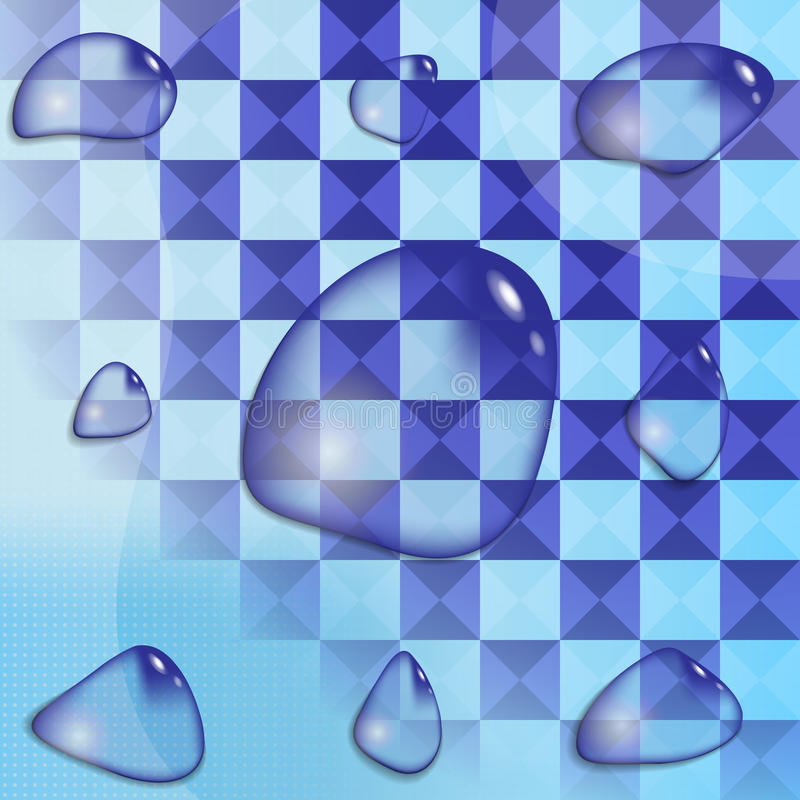 现实水滴 图库摄影