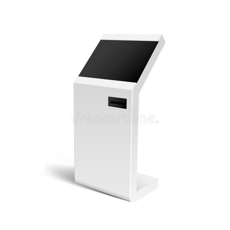 现实3D付款终端, ATM, POS嘲笑 皇族释放例证
