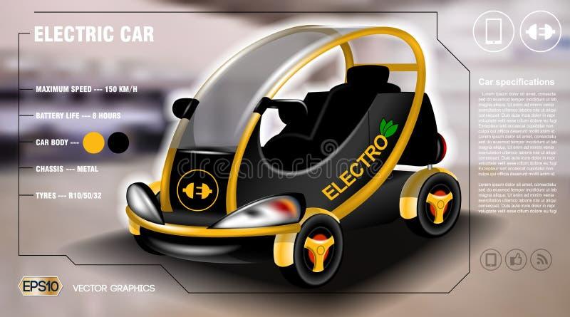 现实3d电车信息图表概念 数字式传染媒介与象的电车海报 皇族释放例证