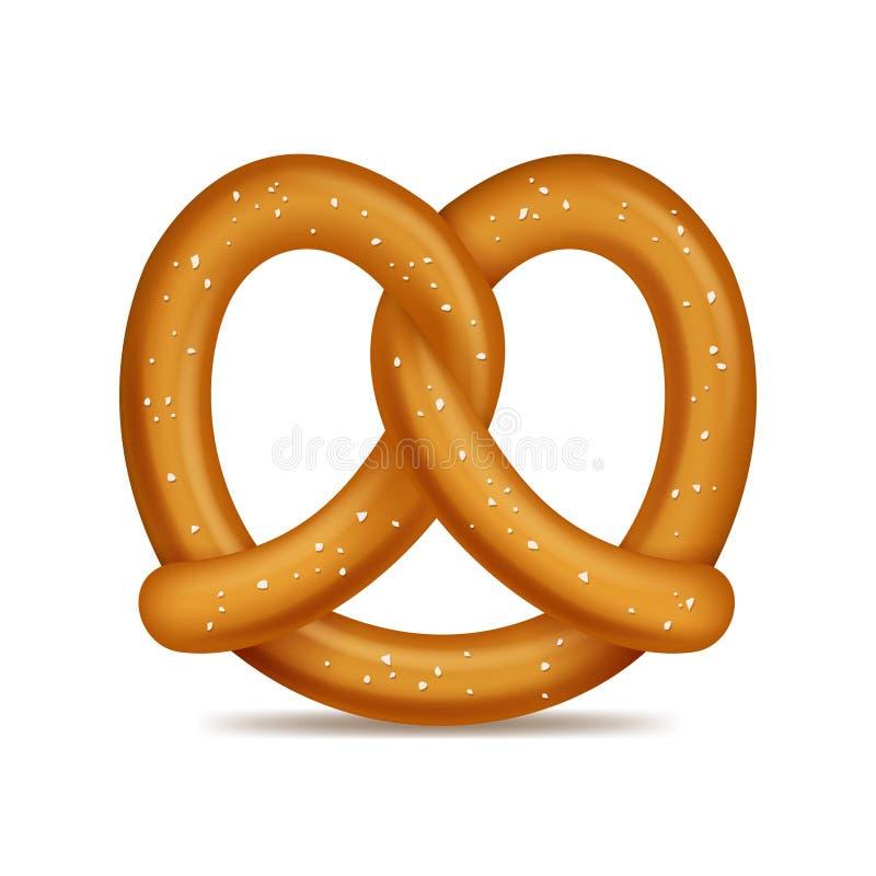 现实3d详述了椒盐脆饼传统面包快餐 向量 皇族释放例证