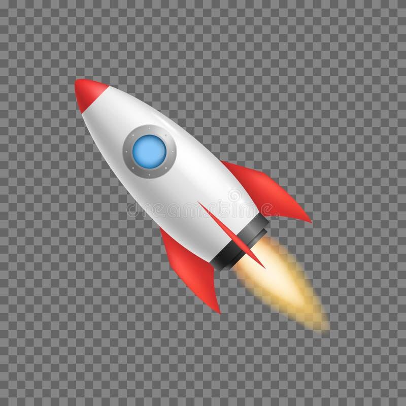 现实3d详述了火箭队太空船 向量 皇族释放例证