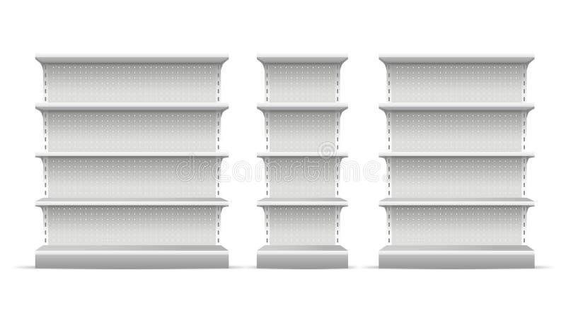 现实3d详述了超级市场架子集合 向量 向量例证