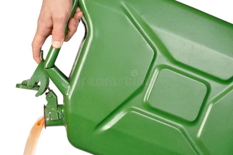 现有量五加仑装之汽油罐 库存照片