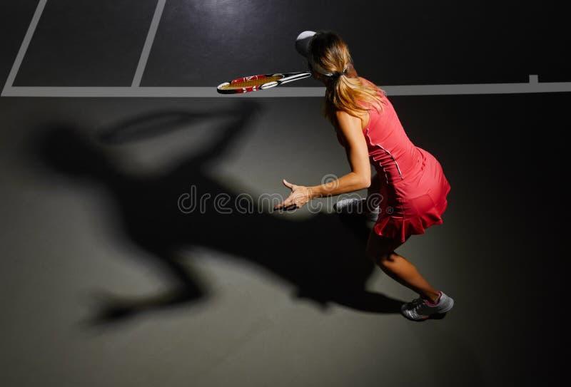 现有量例证被绘的球员网球妇女 库存图片