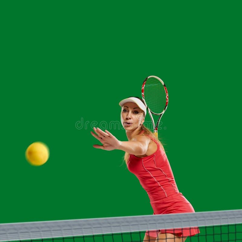 现有量例证被绘的球员网球妇女 免版税库存照片