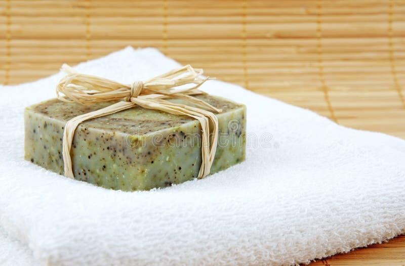 现有量做肥皂毛巾 免版税图库摄影