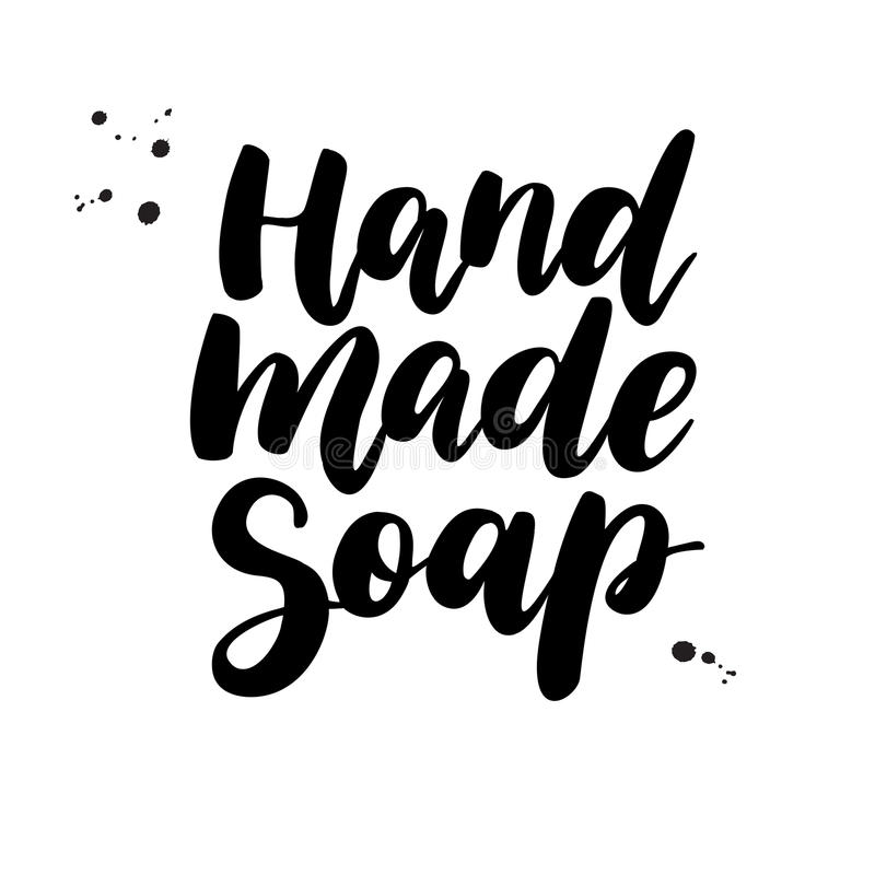 现有量做肥皂 传染媒介字法 有机的书法标签 皇族释放例证
