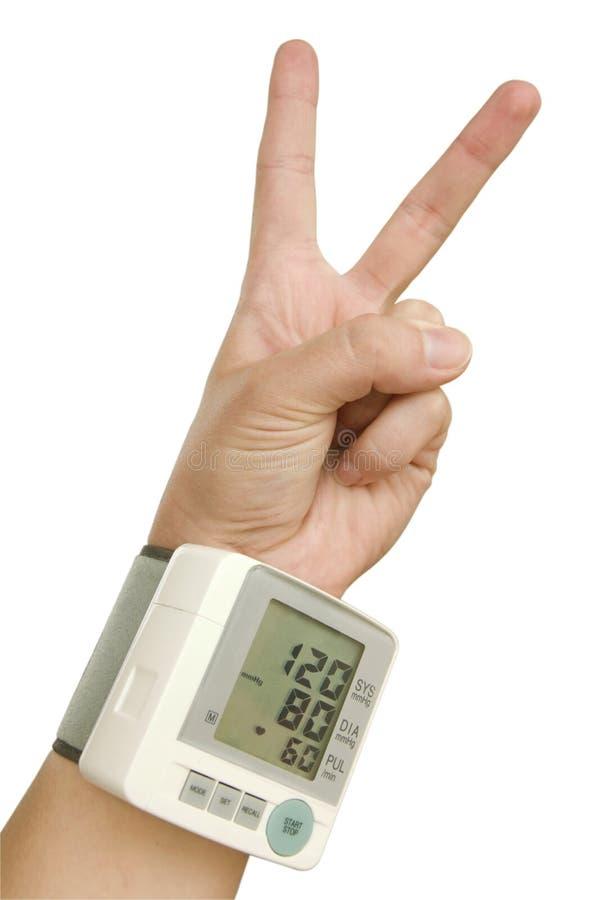 现有量健康人员tonometer胜利 免版税图库摄影